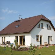 Výstavba našeho domu z výšky